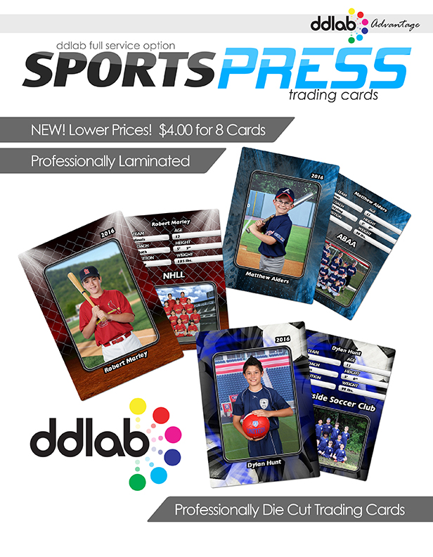 Sports Press Trading Cards Flyer