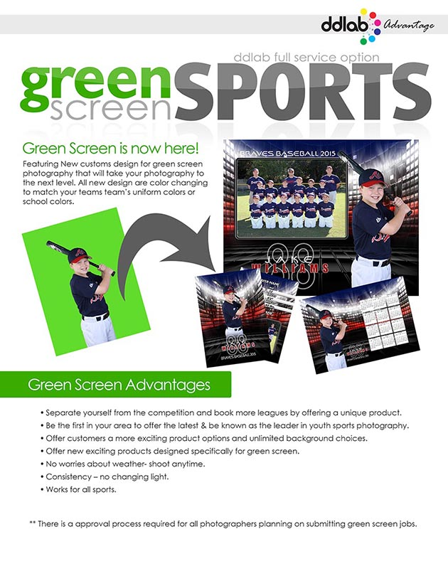 Green Screen Sports Flyer