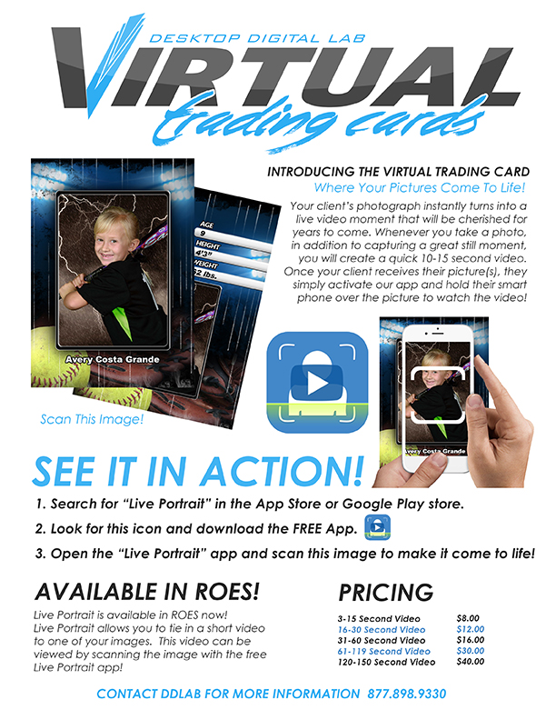2016 Virtual Trading Card Flyer